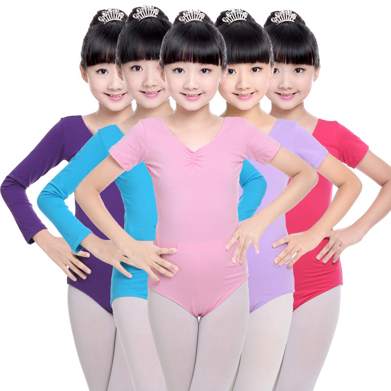 Kids Ballerina Cotton Ballet Dance Gymnastics Leotard For Girls Dancing Bodysuits Skating Costumes Clothes Clothing Dancer Wear