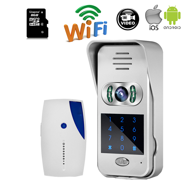 MILEVIEW Code Keypad Wireless Wifi Video Door Phone Doorbell Intercom for iPad Smart Phone Remote Monitor Unlock Free Shipping