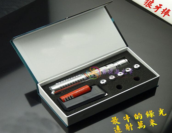 Super Powerful! Military 100000m 100w Green laser pointers 532nm Flashlight Burn match /pop balloon/burn cigarettes+gift box
