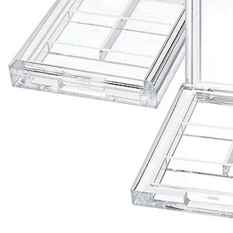4 Grids Persegi Panjang Eyeshadow Pigmen Kosong Wadah Palet Plastik Portable Lipstik Dispenser Case Tray Alat