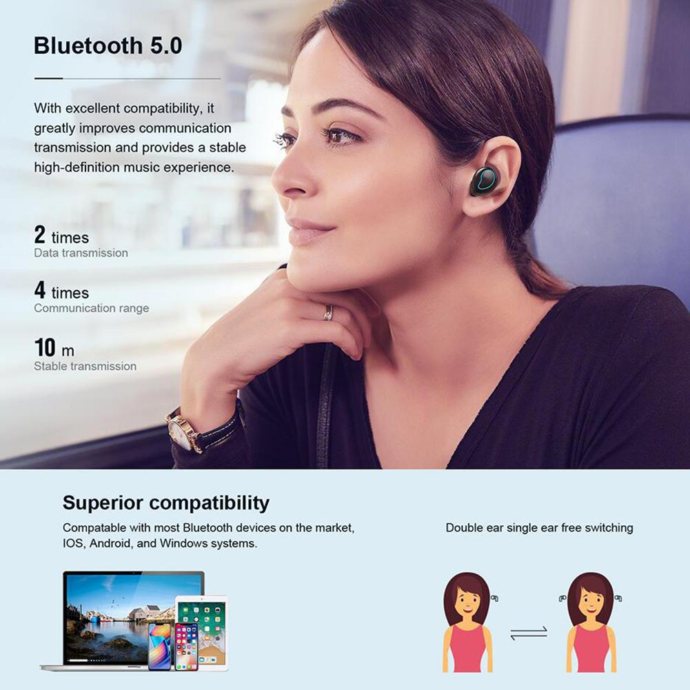 Image 2 - HD Sound Quality Earphones Binaural Call Waterproof Charging Warehouse Sports Bluetooth Earphones For ONIKUMA TWS T2 Portable-in Bluetooth Earphones & Headphones from Consumer Electronics