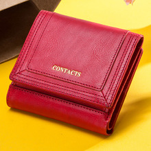 100% Genuine Leather Women Wallets Short Coin Purse Card Holder Female Money Bag High Quality Mini Walet Small Carteira Feminina contact s brand female wallet women genuine leather purse bank card holder small carteira feminina coin purse money bag clutch