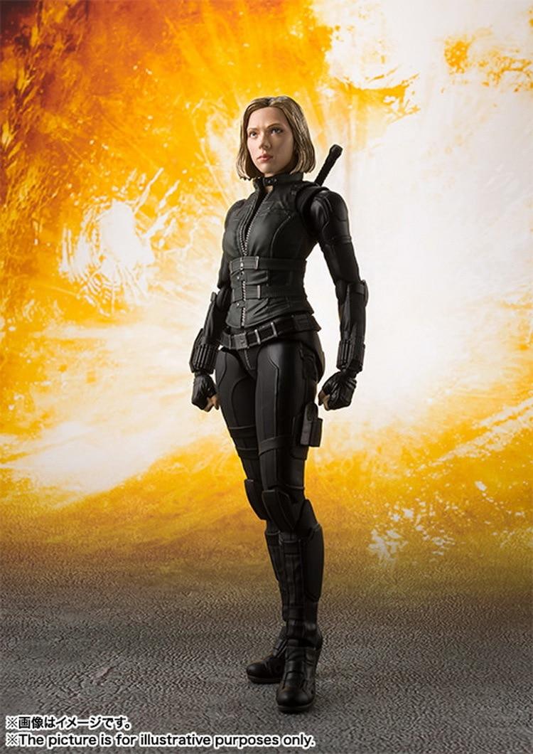 Black Widow 15cm SHFiguarts Avengers Infinity War BJD Action Figures Toys