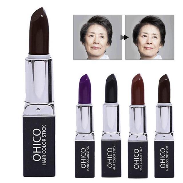 Tinte para el cabello desechables para colorear lápiz labial rápido ...