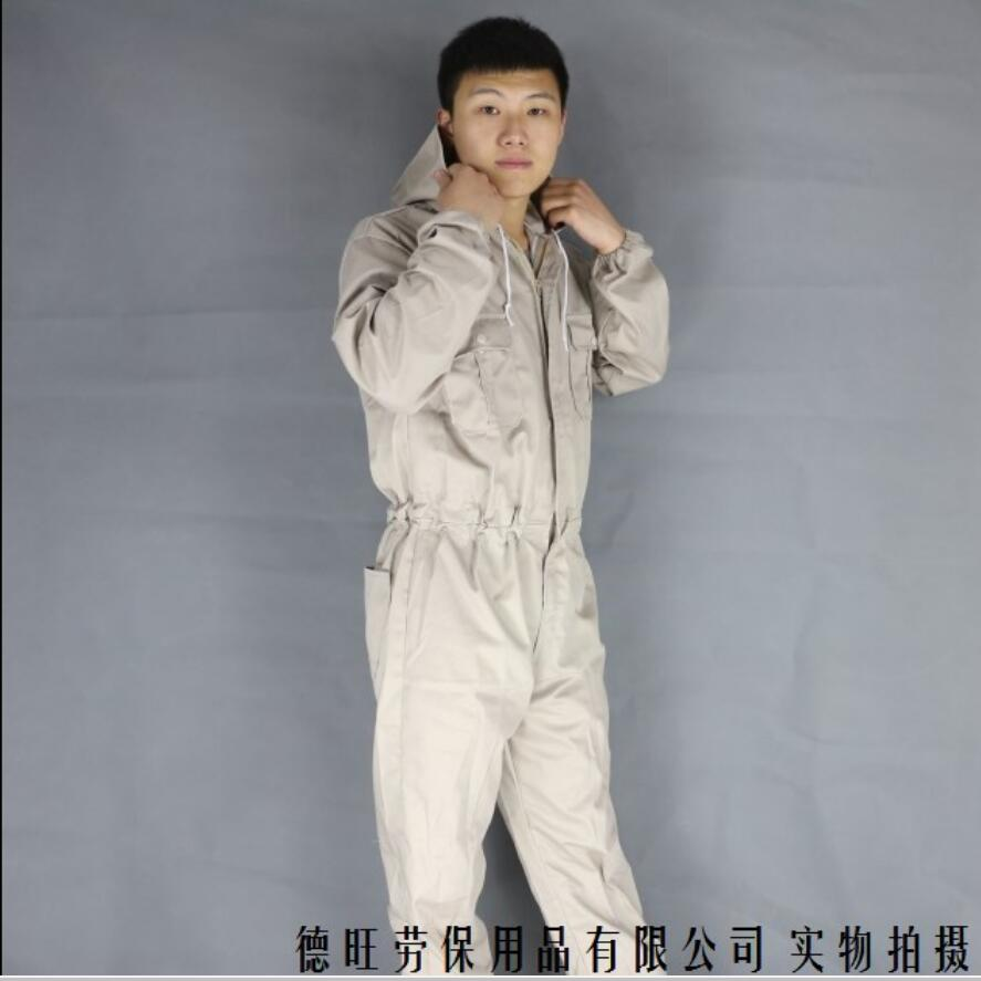 S-3XL Hooded Fuel Spray Protective Dust Overalls Men's Machine Repair Breathable Cotton Labor Uniforms Workwear Repairman Pants
