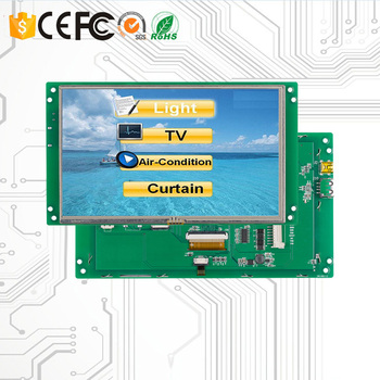 Programmable TFT LCD 7 Inch Touch Screen with RS232/RS485/TTL /USB for Medical Use