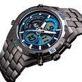 ASJ Top Brand Luxury Quartz Watch Men Sport Clock Military Army Male Full Steel Clocks Mens Casual Digital LED Watches Gift 056