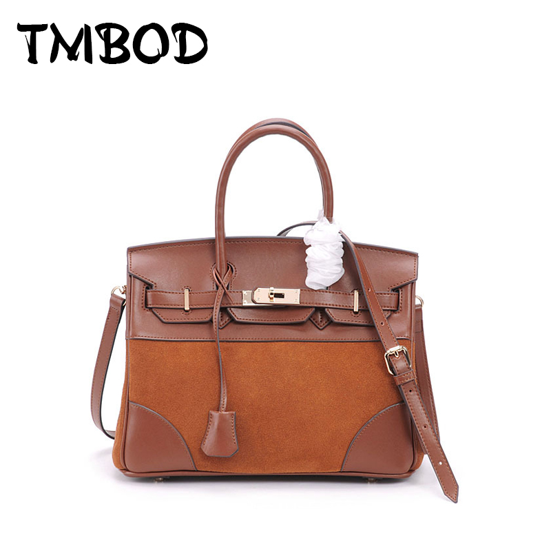 New 2018 Designer Classic Scrub Patchwork Tote Popular Women Genuine Leather Handbags Ladies Bag Messenger Bags For Female an978 2017 new classic casual scrub tote lady genuine leather handbags popular women fashion shoulder bags easy matching bolsas qn027