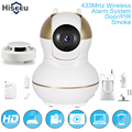 HD 433MHz Infrared Door/PIR/Smoke Sensor  720P Wireless IP Camera  Alarm system FH6-K