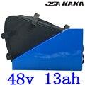 500 Вт 750 Вт 1000 Вт 48В литиевая батарея 48В 13ач батарея 48В треугольная батарея для электровелосипеда 13ач с 30А BMS + 54 6 В 2А зарядное устройство бесп...