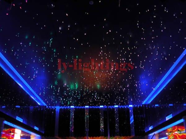 Оптическое волокно свет комплект 32 Вт свет коробка с оптического волокна мерцание звездное небо потолочный светильник RGB ИК для комнаты укр