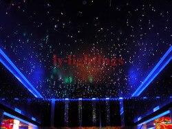 Zestaw światłowodowy światłowód 32 w kaseton LED za pomocą światłowodu twinkle star niebo sufitu światła RGB IR do dekoracji pokoju projekt
