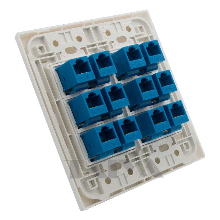 Cliquez Sur Mode 2 gang plaque pour les modules Euro Plaque-CMA312