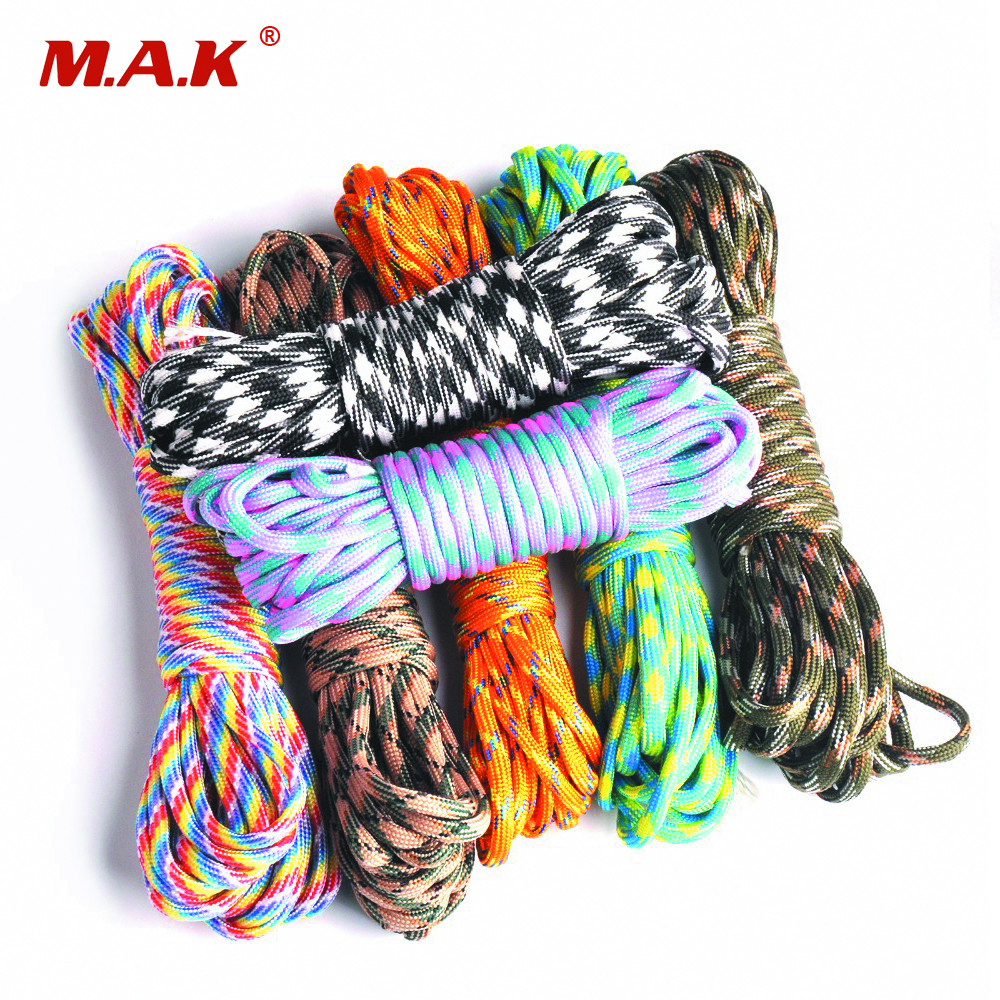 550 Paracord Parachute Cord Lanyard Accessories Mil Spec Type III 7 Strand Survival Rope for Climbing Camping hot sale 10ft reflective 550 paracord rope type iii 7 strand light reflecting for survival parachute cord bracelets paracord