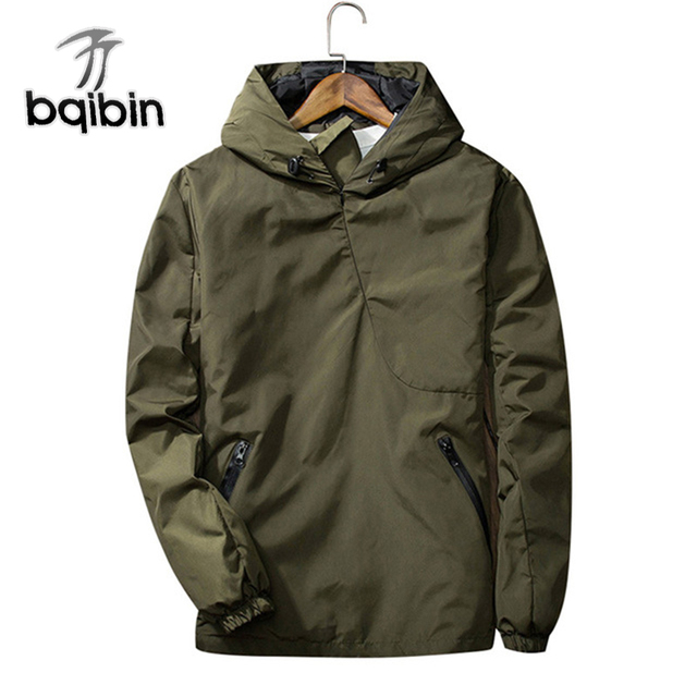 7f0a8d465 2018 Mens Bomber Jacket Reflective Hooded Autumn Reflective Windbreaker  Black Long Sleeve Tactical Pullover Plus Size 3XL