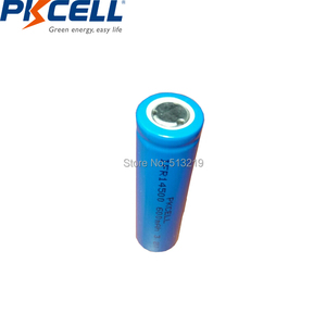 Image 3 - 2pcs PKCELL AA 14500 3.2v lifepo4 Rechargeable Battery Lithium ion batteries Cell 600MAH IFR14500 for Camera Solar Led Light