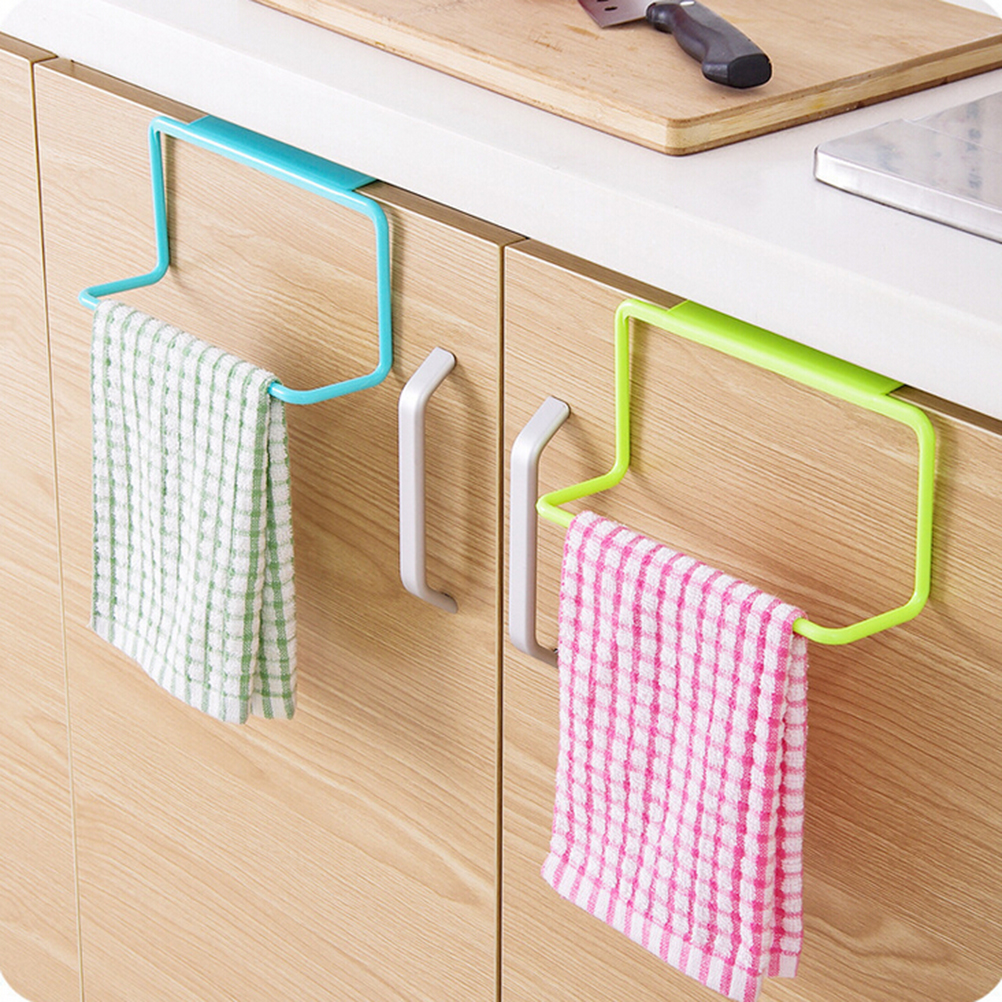 Us 2 24 40 Off Multipurpose Single Lever Kitchen Door Back Towel Rack Cabinets Cloth Hanger Hook Wall Mounted Bar Bathroom Accessory In