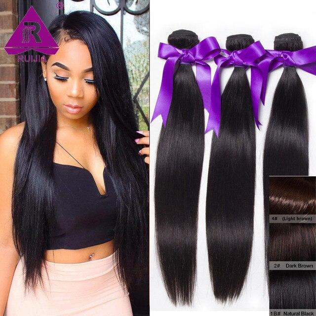 Peruvian Remy Virgin Hair Weave Straight 100 Human Hair Weaving 3