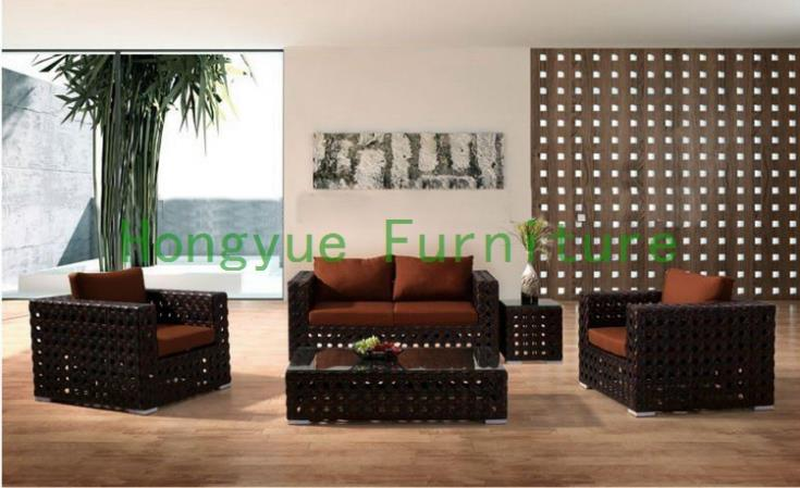Buy pe rattan living room sofa designs for Bamboo living room ideas