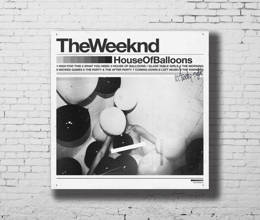 Us 6 03 10 Off Art Print Poster The Weeknd House Of Balloons Music Album Cover Home Decoration Hot Wall Canvas 16x16 24x24 30x30inch G 107 In