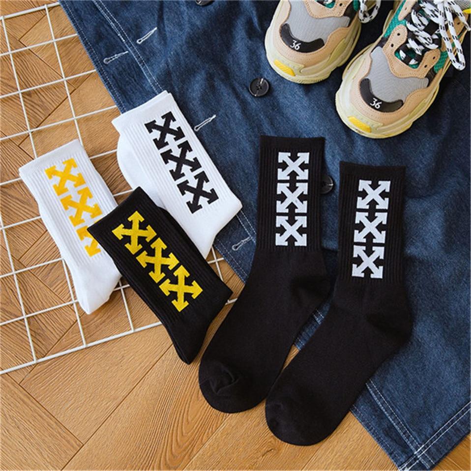 2019 Women's Cotton Hip Hop Funny   Socks   Arrow Off White Harajuku   Socks   High Thigh Sports   Socks   Crazy Long Luxury   Socks   Gift