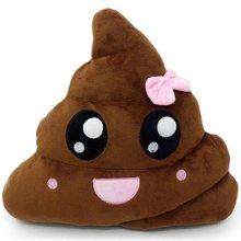1 Buah 20 Cm 35 Cm Anak Stuffed Plush Animal Poo Bentuk Emoji Bantal Kartun Smiley Wajah Menyenangkan Lelucon Hadiah pesta Props(China)