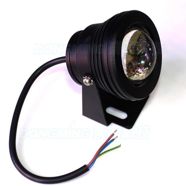 fabriek prijs onderwater led verlichting waterdicht ip68 rood groen blauw zwart body bolle lens onderwater led