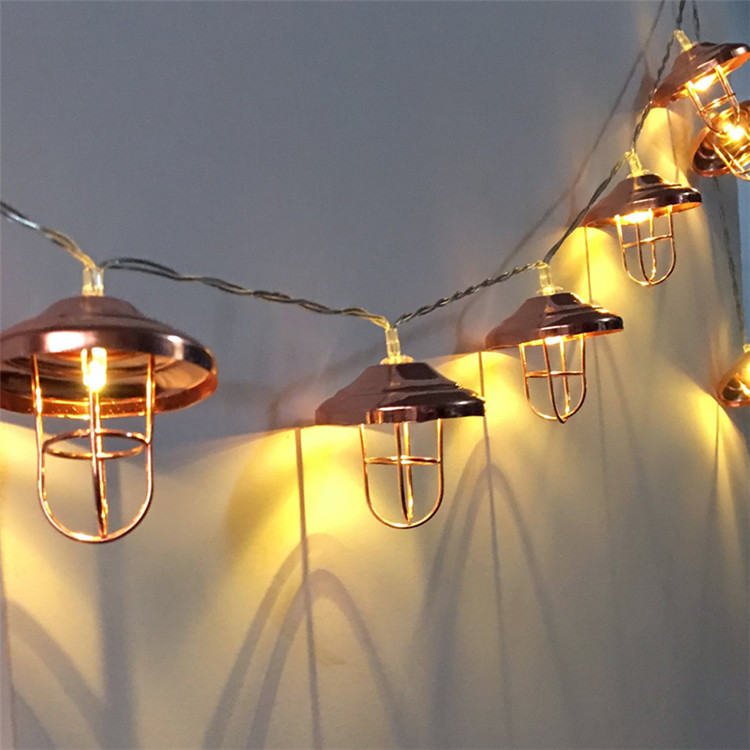 Novelty 20 LED 3M Metal Lampshade Party Fairy String Lights Christmas Lights Holiday Garland Lighting