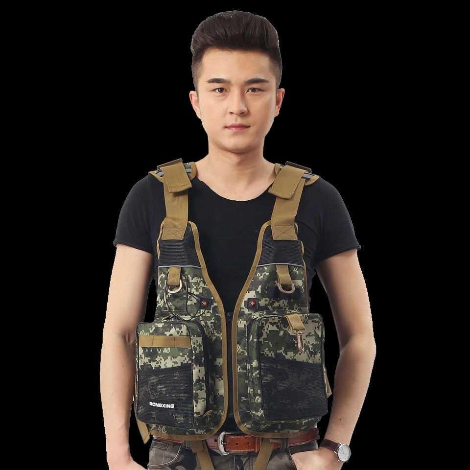 WALK FISH Outdoor Sport Breathable Fishing Life Vest 4Colors Men Swimming Life Safety Waistcoat Survival Utility Vest Colete