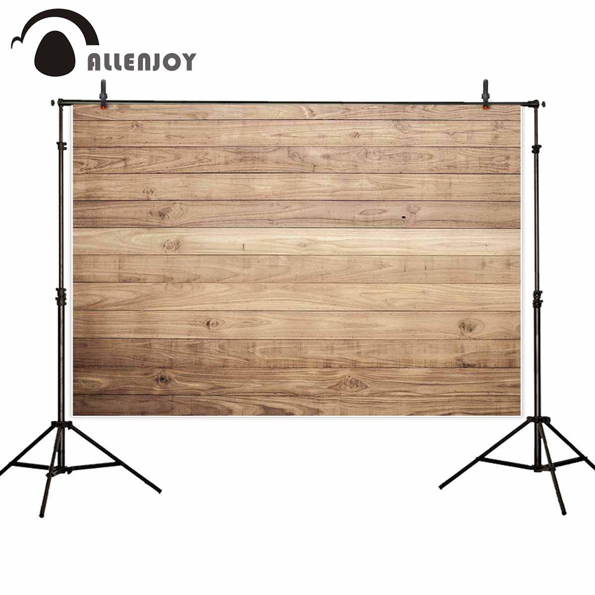 Allenjoy bakgrund för fotografisk studio brun trä planka vägg - Kamera och foto