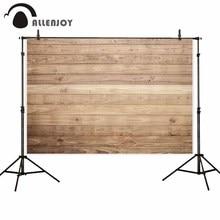Allenjoy bakgrund för fotografisk studio brun trä planka vägg textur foto bakgrund nyfött bröllop födelsedag photocall