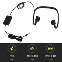 BTL-G002L Preto Condução Óssea Fone De Ouvido Micro-Cabo De Carregamento USB de Transmissão de Alta Velocidade Bluetooth fone de Ouvido Esporte