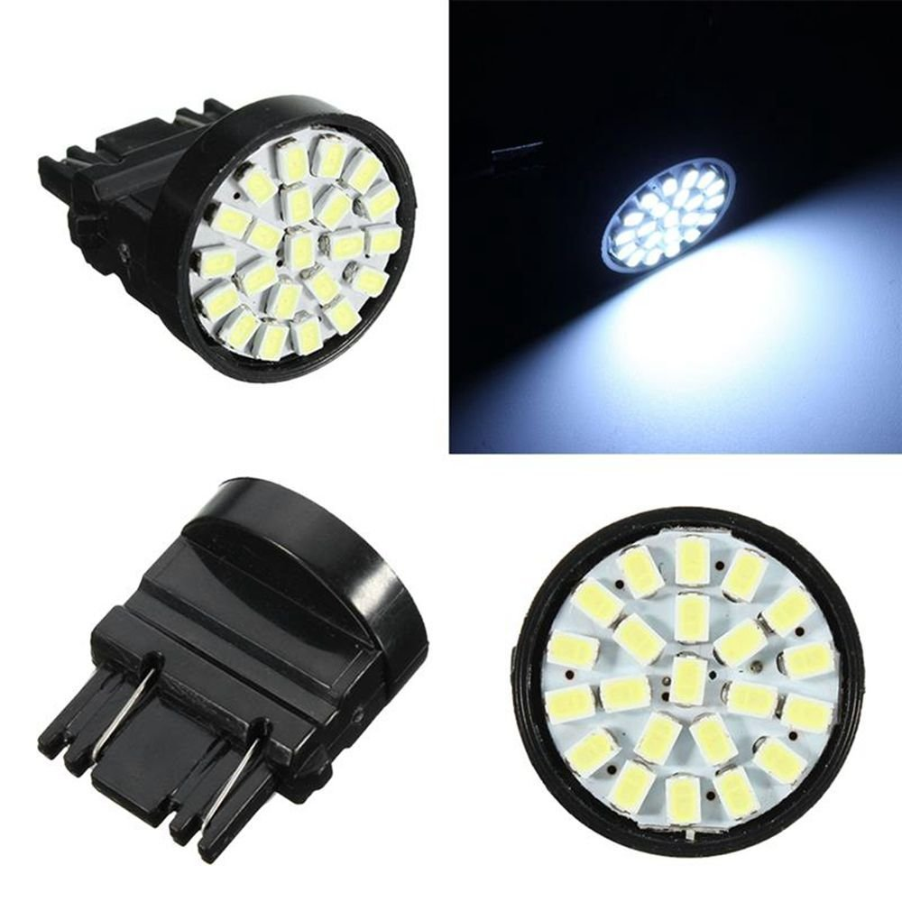 10pcs T25 3157 Bulb P27 7W High Power 22 1206SMD Auto Led Car Stop Brake White Red Yellow