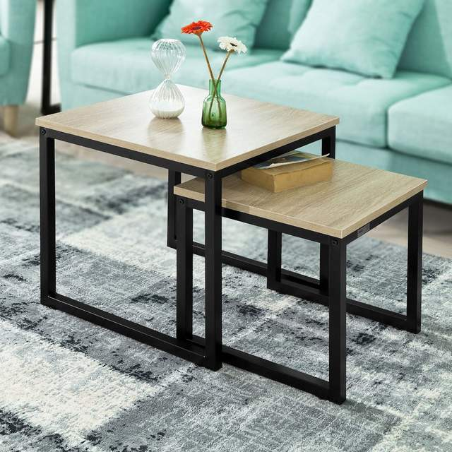 Us 58 0 So Fbt42 N Modern Nesting Tables Set Of 2 Coffee Table Side End In From Furniture On Aliexpress