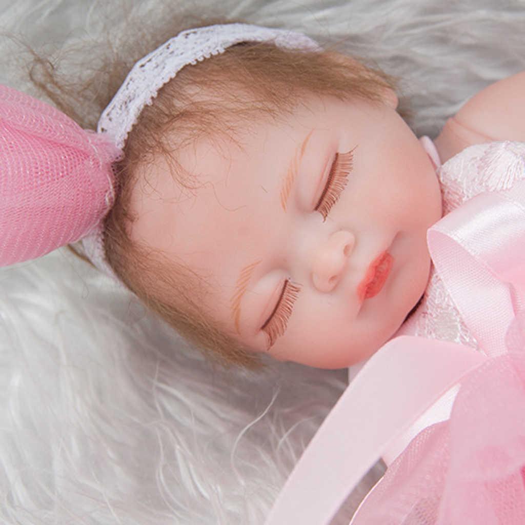 מגע אמיתי 11 אינץ Reborn בובה מלאה סיליקון יילוד תינוקת בובת ילדים אמבט לשחק צעצוע ללוות צעצוע לילדים בגדי מודל