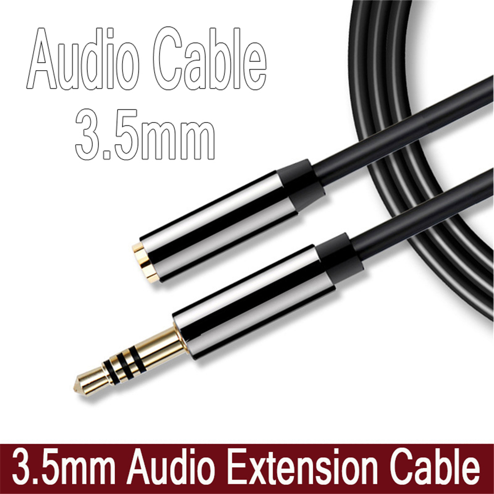 3.5mm Male To Female M/F Stereo 1/2/3M Headphone Extension Cable Aux Cord 4 Pole Fashion Cable Audio Jack 3.5 Computers MP3