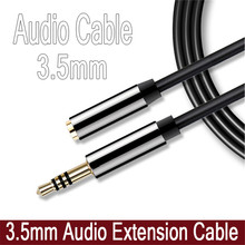 3.5mm Male to Female M/F Stereo 1/2/3M Headphone Extension Cable Aux Cord 4 Pole Fashion Cable Audio Jack 3.5 Computers MP3(China)