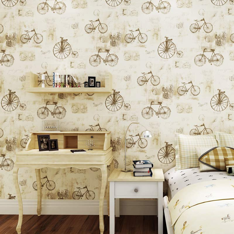 Popular bicycle wallpapers buy cheap bicycle wallpapers - Papel pared vintage ...