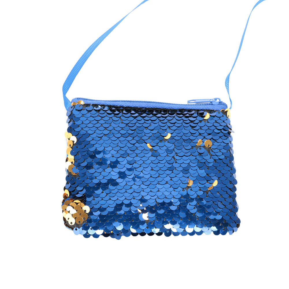 Kids Girls Sequins Star-Shaped Crossbody Pouch Bags Coin Purse Wallet Shoulder