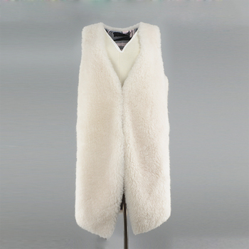 rf0144b 100% Wool Vest Women Natural Fur Waistcoat White Fur Gilet very beautiful white fur vest