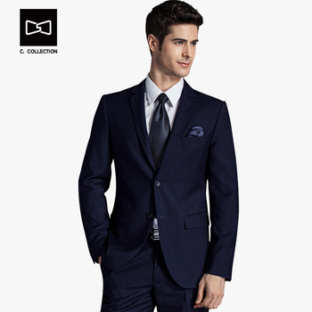 2018 Men Business Suit Slim fit Classic Male Suits Blazers Luxury Suit Men Two Buttons 2 Pieces(Suit jacket+pants) 1