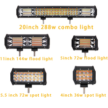 ECAHAYAKU 1 pcs Amber/White 5 light types Spot Flood Combo LED work bar for truck SUV ATV 4x4 4WD motorcycle car styling