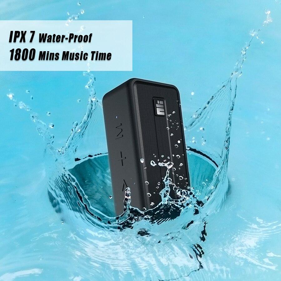 Haut parleur Bluetooth NILLKIN IPX7 étanche haut parleur extérieur Bluetooth 5.0 sans fil stéréo haut parleur de basse en plein essor 1800 minutes de jeu TWS-in En plein air Haut-parleurs from Electronique    1