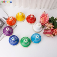8 Notes Colorful Hand Bell Musical Instrument Toy Set For Children Baby Early Education