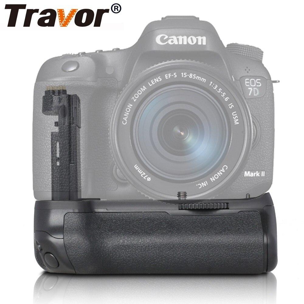 Travor Caméra Verticale Batterie support de prise en main Pour Canon DSLR Mark II 7D 7D2 EOS Batterie Poignée Travail Avec LP-E6 Batterie