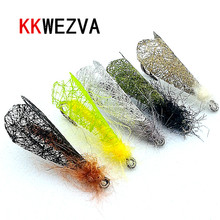 KKWEZVA 25PCS Dry Flies moth insect bait for Trout Fishing Coachman Fly Lure Wholesale Tackle