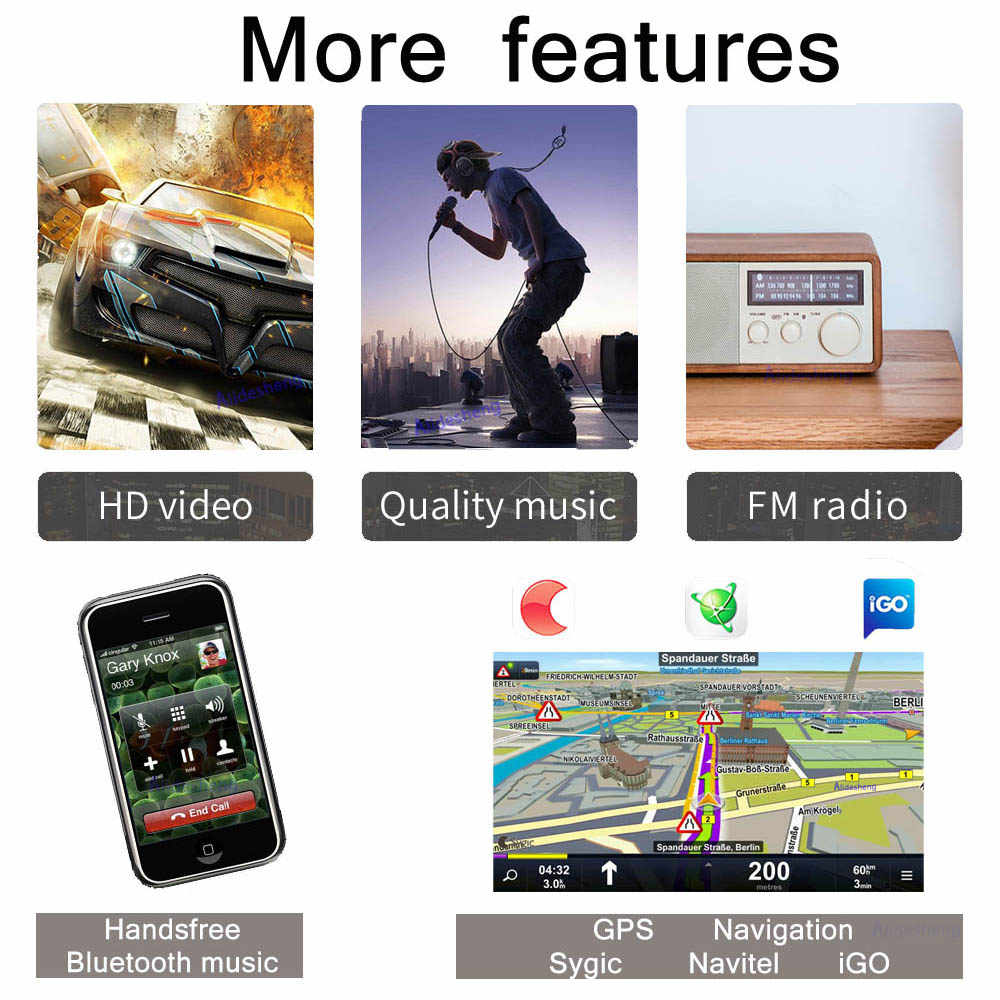2din アンドロイド 8.1 システムのタッチスクリーン 7 インチ HD 2 DIN カーラジオ Gps ナビゲーションカーオーディオ Autoradio マルチメディアプレーヤー
