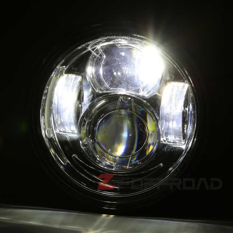 Schwarz/Chrom LED Fett Bob Motorrad Dual Scheinwerfer Montage Scheinwerfer Ersatz mit DRL für-Dyna Fat Bob FXDF