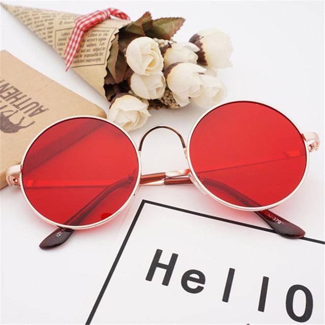 2baa288f77 NYWOOH Retro Metal Sunglasses Women Round Sun Glasses Brand Designer Red Circle  Glasses Female Shades UV400 Eyewear