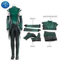 лучшая цена ManLuYunXiao Guardians of The Galaxy 2 Cosplay Costume Mantis Cosplay Costume Halloween Mantis Costume For Women Custom Made